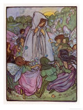And if I Go Tonight Perchance They'll Let Me See Their Fairy Dance Giclee Print by Florence Harrison
