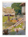 An Idyllic Canal Scene in Rural England Giclee Print by K.j. Petts