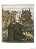 Annette Von Droste-Hulshoff German Writer Giclee Print by Wilhelm Schulz