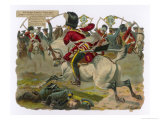 Sgt. H.Ramage of the Scots Greys Goes Singlehanded to the Aid of a Trooper Giclee Print by Harry Payne