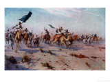 After the Battle of Omdurman the Defeated Khalifa Flees the Battlefield Giclee Print by R. Talbot Kelly