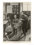 Consulting the Phrenologist, The Parents Wait Giclee Print by A.s. Hartrick