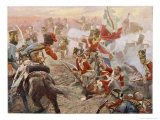 Wellington Defeats Ney Giclee Print by Vereker M. Hamilton