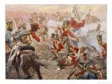 Wellington Defeats Ney Giclee Print by Vereker M. Hamilton