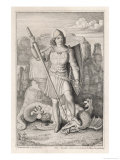 Saint George with His Foot on the Neck of the Dragon He Has Just Slain Giclee Print by A. Petrak