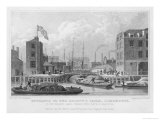 Regent's Canal (Grand Union) Entrance at Limehouse Giclee Print by F.j. Havell