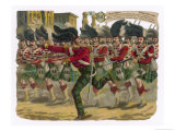 Lieutenant Macpherson Leads a a Charge by the 78th Highlanders to Capture Enemy Guns at Lucknow Giclee Print by Harry Payne