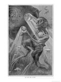 In the Abyss' Divers Encounter Weird Creatures in the Lower Depths of the Ocean Giclee Print by Henri Lanos