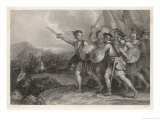 William Wallace Leads the Scots Against the English Giclee Print by J. Rogers
