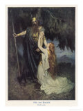 Odin and Brunnhilde Giclee Print by Ferdinand Lecke
