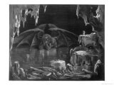The Winged Demon in His Icy Lair Giclee Print by H. Pisan