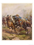 Battle of Edgehill: Prince Rupert's Charge Giclee Print by Harry Payne
