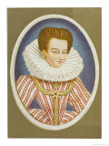 Gabrielle Estrees Mistress of Henri IV Giclee Print by Nicholas Hilliard