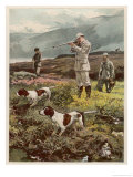 Shooting on the Moors Giclee Print by William Small