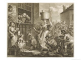 The Enraged Musician Disturb Hogarth Giclee Print by William Hogarth