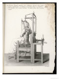 Chair Designed to Correct Deformities of the Spine Holding It in Any Desired Position Giclee Print by  Langlume