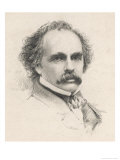 Nathaniel Hawthorne (Originally Hathorne) American Writer at the Age of 58 Premium Giclee Print by S.a. Scholl