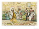 Member of the Bombay Staff Corps is Invited to a Party of Local Notables Giclee Print by Captain E.r. Penrose