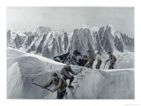 On the Summit Slope of the Aiguille d'Argentiere Giclee Print by Ernst Platz