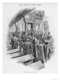 The Jews in New York Procession of the Sepharim on Simchath Torah Gicl&#233;e-Druck von Irving R. Wiles