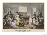 The Billiard Room in a French Household, But Not Much Chance of a Quiet Game! Giclee Print by Marlet