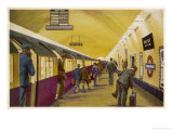 Train Arrives at Wood Green Station London Giclee Print by William Mcdowell