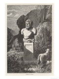 Aesop Greek Writer of Fables as Depicted by an Antique Bust at the Villa Albani Rome Giclee Print by C. Laplante