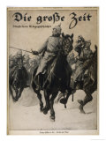 German Cavalry Charge Giclee Print by A. Rossauff
