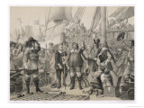Kristian IV of Denmark and Norway Defeats the Swedes Giclee Print by W.n. Marstrand