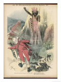 Zulu Ghost Condemns John Bull for the Massacre in Uganda Giclee Print by F. Graetz