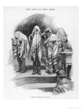 The Jews in New York Cohanim Blessing the People Gicl&#233;e-Druck von Irving R. Wiles