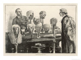 Barrister Wonders if a More Fashionable Style of Wig Could Help Him Impress the Jurors Giclee Print by Charles Paul
