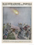 Meteor Over Sinai is Interpreted by Arabs as a Portent of Grave Events in the Red Sea Area Giclee Print by B. Ingegnoli