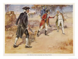 Hastings V Francis Warren Hastings Wounds His Opponent Philip Francis in India Giclee Print by A.d. Mccormick