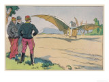 "Ader Demonstrates His Steam- Powered ""Avion III"" (Or Eole III) at Sathory France Giclee Print by Geo Ham"