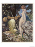 Pan is Consulted by Psyche Concerning Her Relationship with Cupid Giclee Print by Alex Rothaug