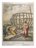 Having Received a Flood Warning from God Noah Sets About the Construction of an Ark Giclee Print by Eugene Ronjat