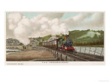 "The ""Cornishman"" Express of the Great Western Railway Carries Passengers from London to Cornwall Giclee Print by F. Moore"