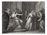 The Empress Matilda Daughter of Henry I Refuses the Plea of King Stephen's Wife to Release Him Giclee Print by J. Rogers
