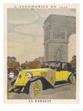 Renault at Arc Triomphe Giclee Print by Pierre Mourgue