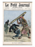 French Comment on Ethiopian Defeat of Italy Giclee Print by Satire