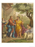 God Instructs Abraham to Migrate to Pastures New Giclee Print by Eugene Ronjat