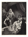 The Death of Queen Elizabeth Giclee Print by Harry Payne
