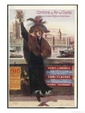 By Rail and Sea from Paris to Brighton or London Featuring a Flower-Seller and Westminster 7 of 8 Reproduction procédé giclée par Arsene Naulez
