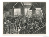 Billingsgate Fish Market Giclee Print by Charles Paul