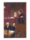 The Wisdom of Father Brown, the Priestly Detective Gives Evidence in Court Giclee Print by Seymour Lucas