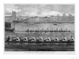 The Boat Race, Ready to Start Premium Giclee Print by Harry Payne