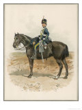 8th (The King's Royal Irish) Hussars a Trooper in Marching Order Mounted on His Horse Giclee Print by Charles Green