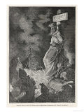 Giordano Bruno Italian Philosopher Arrested by the Inquisition and Burnt Giclee Print by Motty