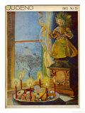 The &quot;Christkind&quot; Presides Over a German Christmas Giclee Print by A. Reinbold